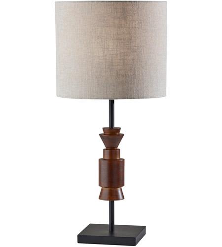 Adesso 4048 15 Elton 28 Inch 60 00 Watt, Black Square Base Table Lamp