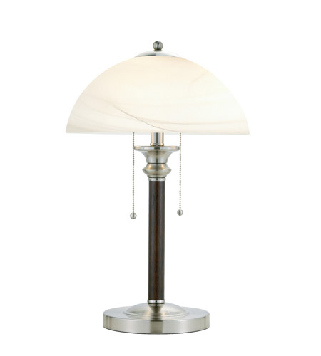 Adesso Lexington 2 Light Table Lamp in Walnut 4050-15 photo
