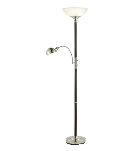 Adesso 4052 15 Lexington 71 Inch 60 Watt Walnut Combo Tall Floor Lamp Portable Light