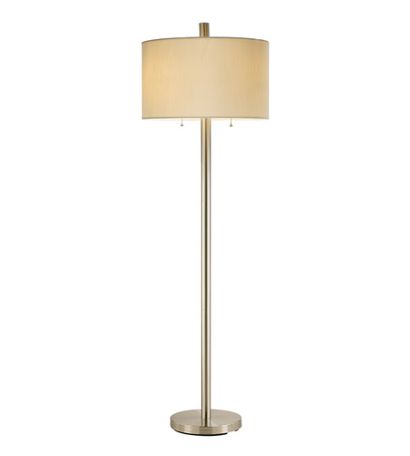 Adesso 4067-22 Boulevard 61 inch 100 watt Satin Steel Floor Lamp Portable Light photo