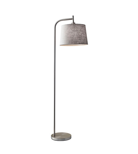 Adesso 4071-22 Blake 58 inch 60 watt Brushed Steel Floor Lamp Portable Light photo
