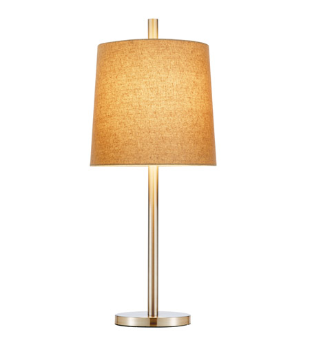 Adesso Jayne Table Lamp 1 Light in Satin Steel 4077-22 photo