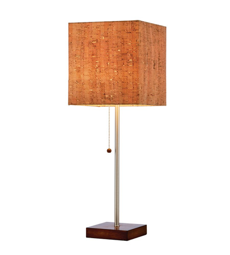 Adesso 4084-15 Sedona 22 inch 60 watt Walnut Table Lamp Portable Light photo