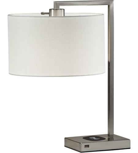 Adesso 4123 22 Austin 21 Inch 60 Watt Brushed Steel Table Lamp Portable  Light,