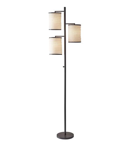 Adesso Bellows 3 Light Tree Lamp In Antique Bronze 4152-26