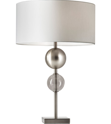 Adesso 4186 22 Chloe 24 Inch 150 Watt Brushed Steel Table Lamp Portable Light