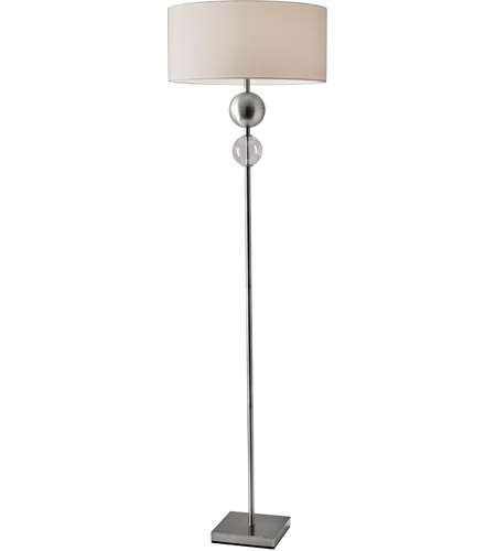 Adesso 4187-22 Chloe 69 inch 150 watt Brushed Steel Floor Lamp ...