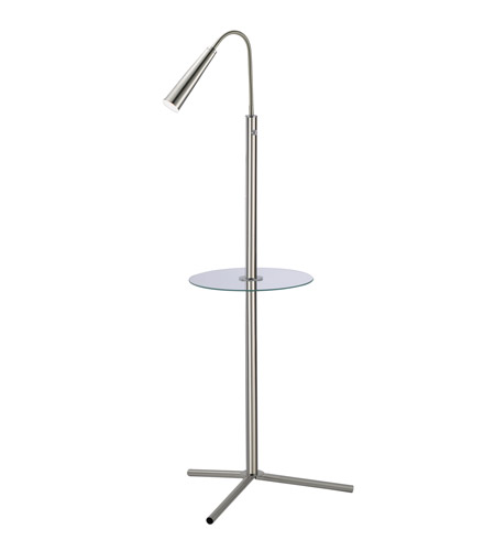 Adesso Ballast LED Floor Lamp in Satin Steel 4232-22 photo