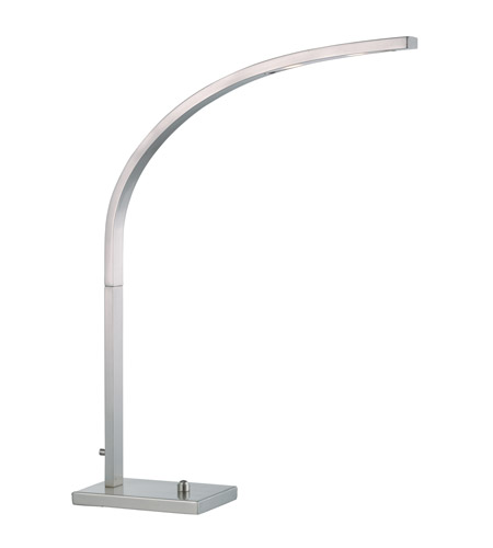 Adesso 4234-22 Sonic 25 inch 8 watt Satin Steel Desk Lamp Portable Light photo