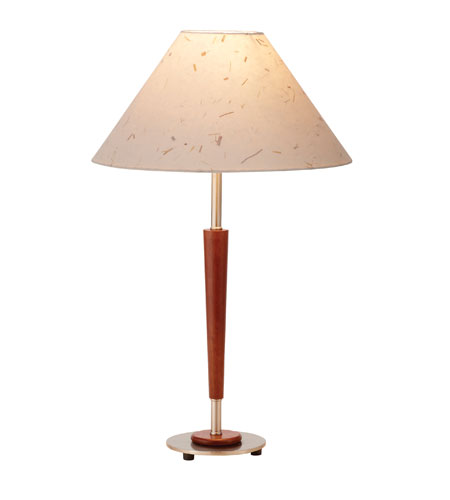 Adesso Acorn 1 Light Table Lamp in Maple/Satin Steel 4240-13 photo