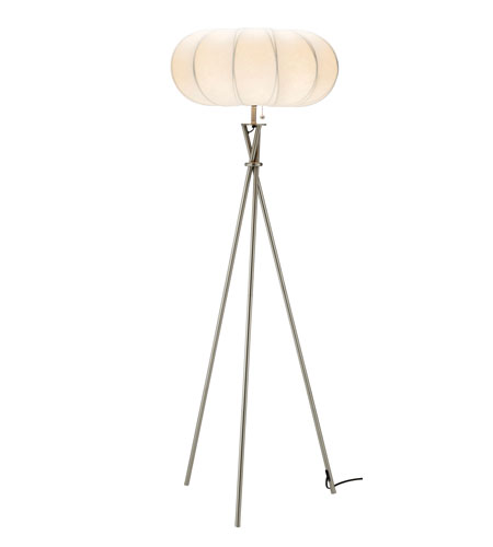 Adesso Cloud 1 Light Floor Lamp in Satin Steel 4245-22 photo