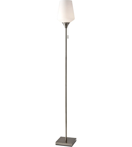 Adesso 4266-22 Roxy 71 inch 100 watt Brushed Steel Floor Lamp Portable Light photo