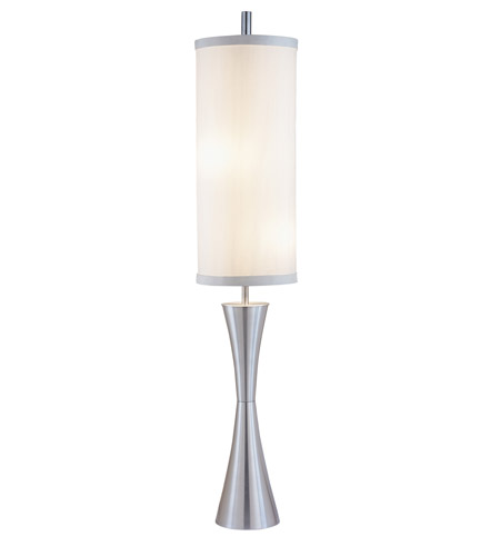 Adesso 4505-22 Geneva 77 inch 100 watt Steel Floor Lamp Portable Light photo