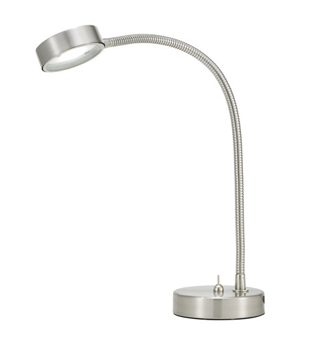 Adesso Eternity 1 Light Flat Head Desk Lamp in Satin Steel 5028-22 photo