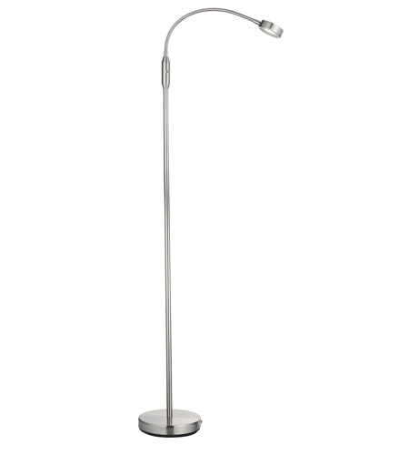 Adesso Eternity 1 Light Flat Head Floor Lamp in Satin Steel 5029-22 photo