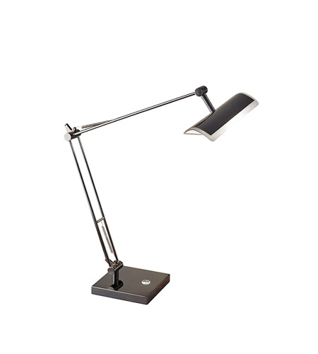 Adesso 5095-01 Clerk 17 inch 9 watt Black Nickel Desk Lamp Portable Light photo