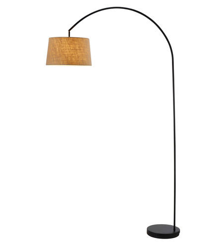 Adesso 5098-01 Goliath 83 inch 150 watt Black Arc Lamp Portable Light photo