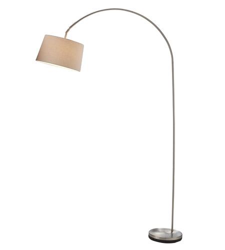 Adesso Goliath 1 Light Arc Lamp In Satin Steel 5098-22