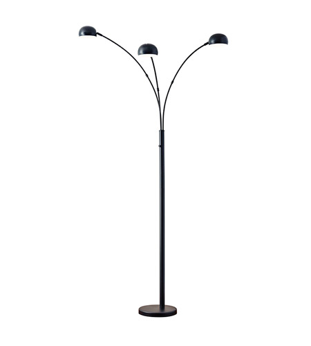 Adesso 5118-01 Domino 84 inch 40 watt Matte Black Floor Lamp Portable Light photo