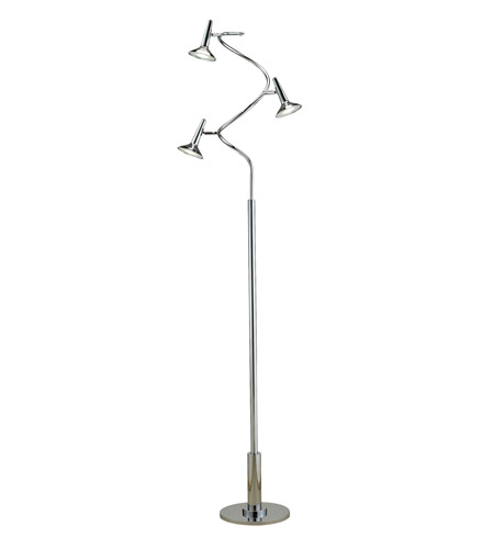 Adesso 5125-22 Radar 71 inch 5 watt Chrome Spiral Floor Lamp Portable Light photo