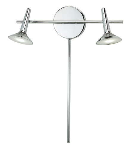 Adesso Radar 1 Light Double Wall Light in Chrome 5126-22 photo