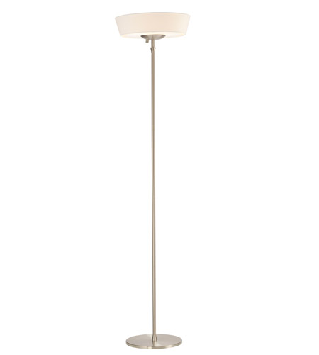 Adesso 5169-02 Harper 71 inch 150 watt Steel Floor Lamp Portable Light in White Shade photo