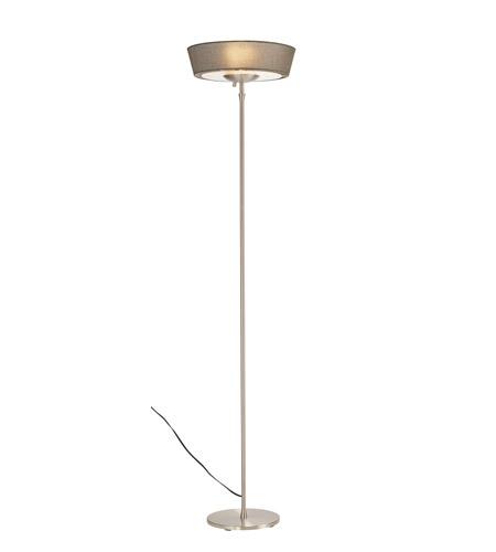 Adesso 5169 03 Harper 71 Inch 150 Watt Steel Floor Lamp Portable Light In  Grey