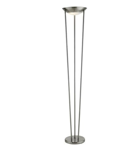 Adesso Odyssey 2 Light Tall Floor Lamp In Satin Steel 5233-22