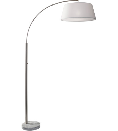 Brushed Steel White Marble Floor Lamps