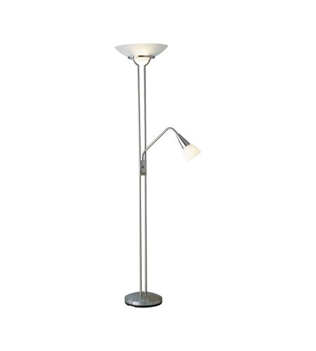 Adesso Cupola 3 Light Combo Floor Lamp With Gooseneck Arm in Steel 5454-22 photo