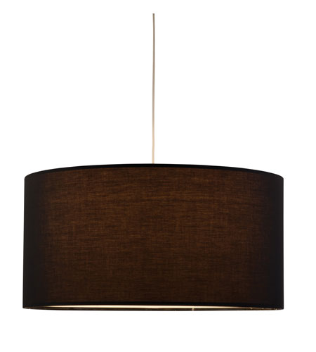 Adesso Timpani 1 Light Giant Pendant in Black 6021-01 photo