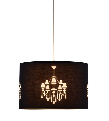 Adesso 6023-01 Opera 1 Light 18 inch Black Pendant Ceiling Light photo
