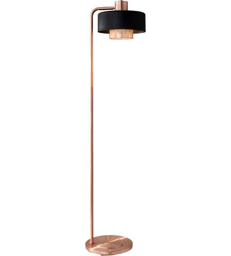 competitive price 074e8 69b73 Adesso 6049-20 Bradbury 60 inch 60 watt Black and Brushed Copper Floor Lamp  Portable Light