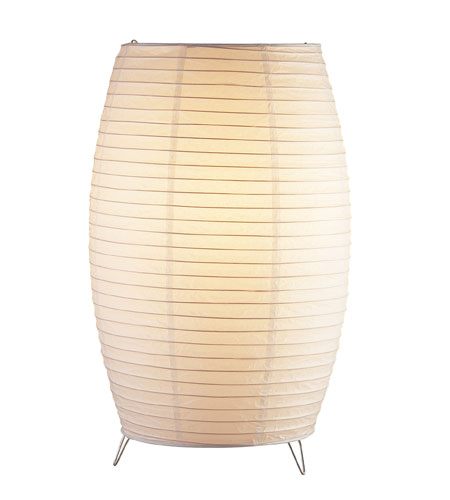 Adesso Suki 1 Light Tall Table Lantern in White 6134-02 photo
