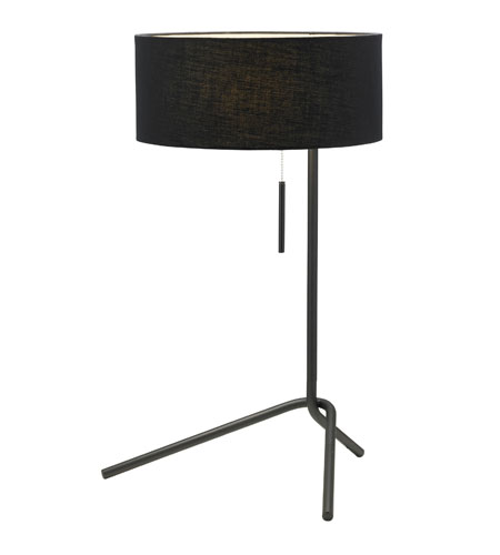 Adesso Twixt 1 Light Table Lamp in Black 6190-01 photo