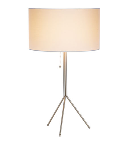 Adesso Tempo Table Lamp 1 Light in Satin Steel 6233-22 photo