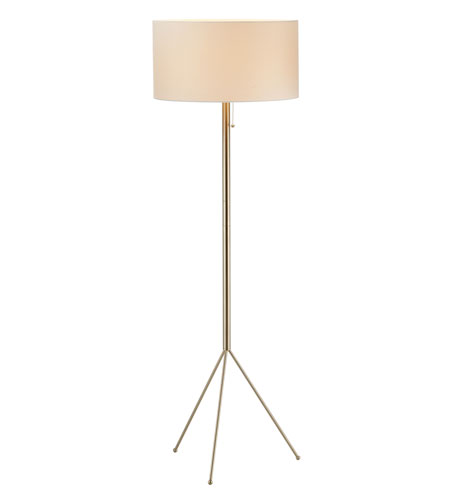 Adesso Tempo Floor Lamp 1 Light in Satin Steel 6234-22 photo