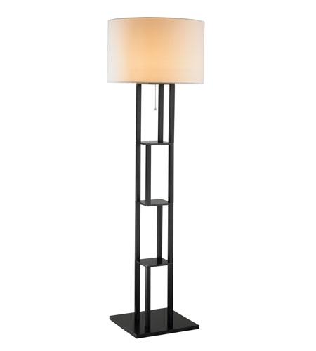 adesso rhinebeck floor lamp in black 6288 01. Black Bedroom Furniture Sets. Home Design Ideas