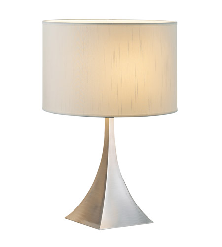 Adesso Luxor 1 Light Table Lamp in Steel 6363-22 photo