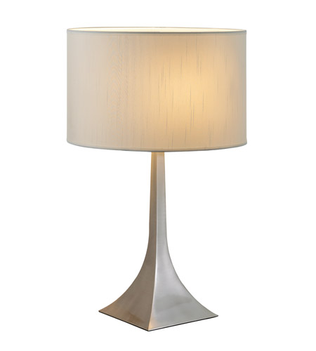 Adesso Luxor 1 Light Tall Table Lamp in Steel 6364-22 photo