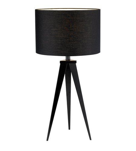 Adesso Director 1 Light Table Lamp in Black 6423-01 photo