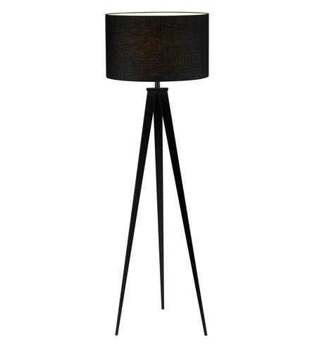 Adesso Director 1 Light Floor Lamp In Black 6424 01