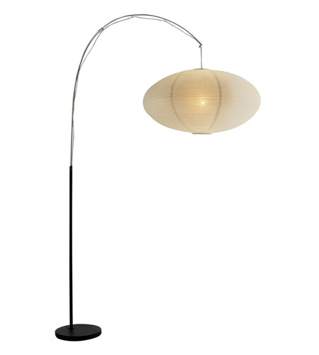 Adesso Eclipse 1 Light Floor Lamp in Black/Chrome 6431-01 photo