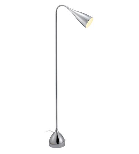 Adesso Search 1 Light Gooseneck Floor Lamp in Chrome 6501-22 photo