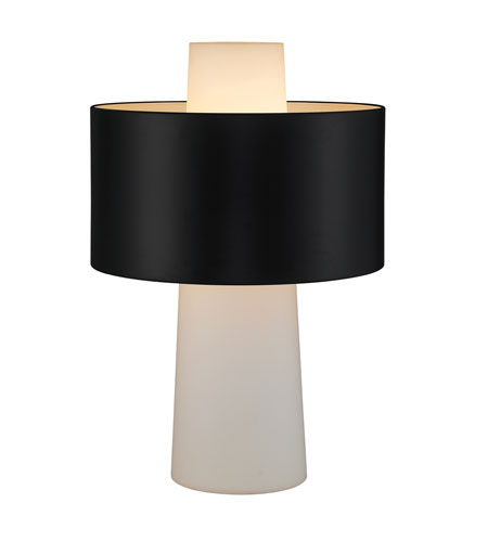 Adesso Symmetry 1 Light Table Lamp in Black 6510-01 photo