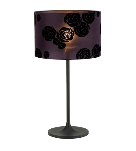 Adesso Roses 1 Light Table Lamp in Black 6512-01 photo