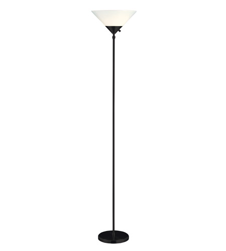 Adesso Pisces 2 Light Torchiere in Black 7501-01 photo