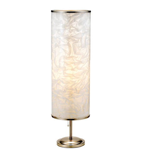 Adesso Papyrus 1 Light Tall Table Lamp in Satin Steel 8004-22 photo