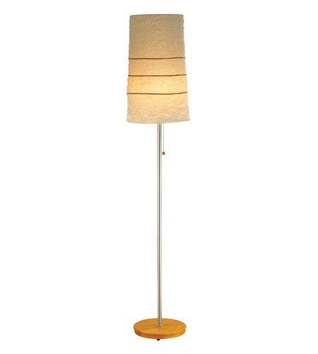Adesso Linear 1 Light Floor Lamp in Natural 8069-12 photo
