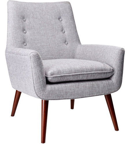 Adesso GR2001-03 Addison Light Grey Fabric Chair photo